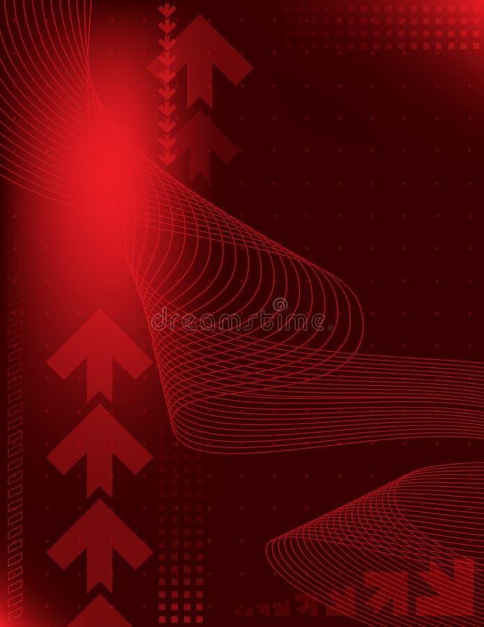 Fondo abstracto con las flechas stock de ilustración