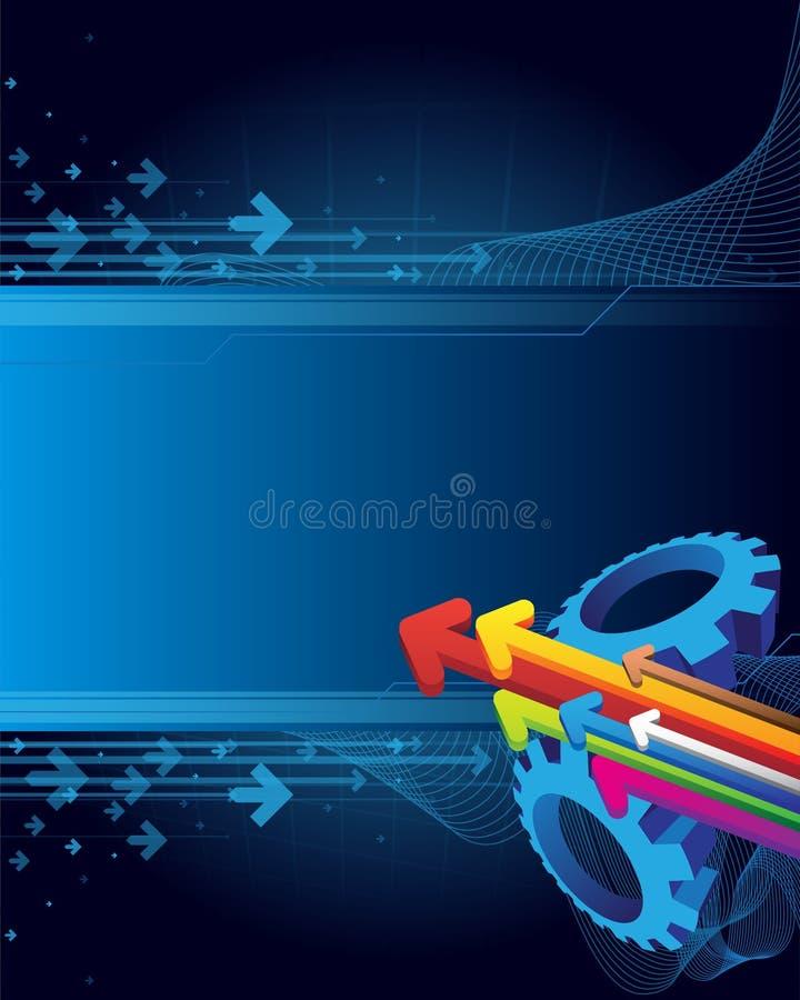 Fondo abstracto con las flechas ilustración del vector