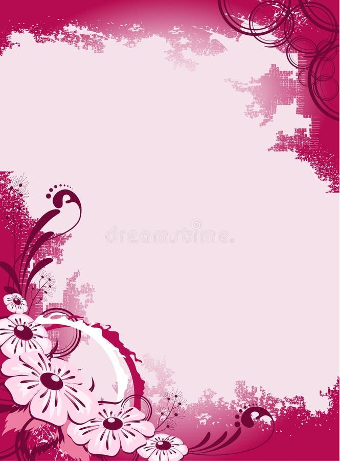 fondo abstracto con las flores stock de ilustración