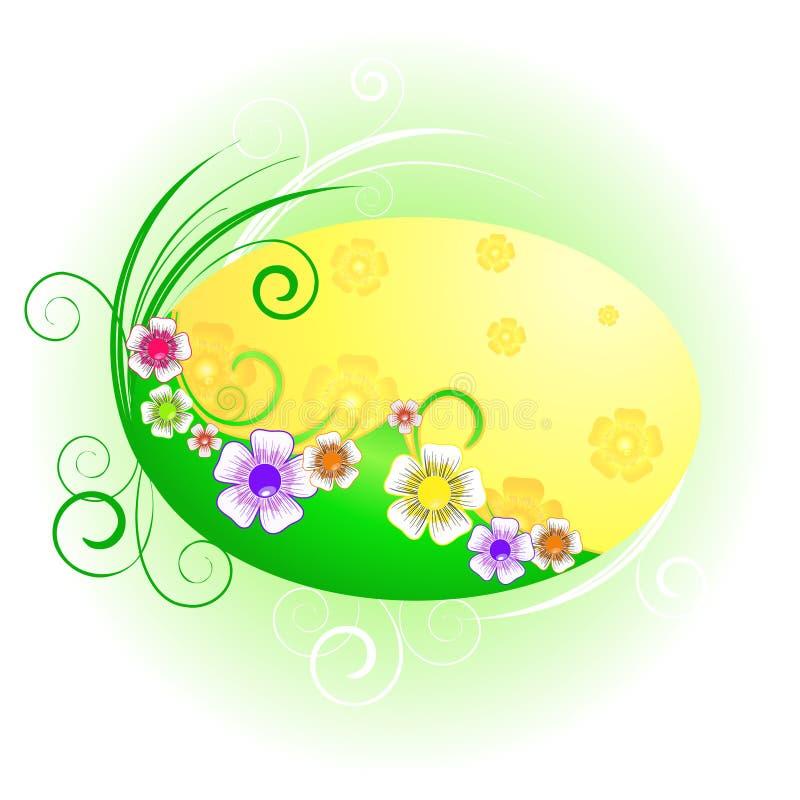 Fondo abstracto con las flores salvajes stock de ilustración