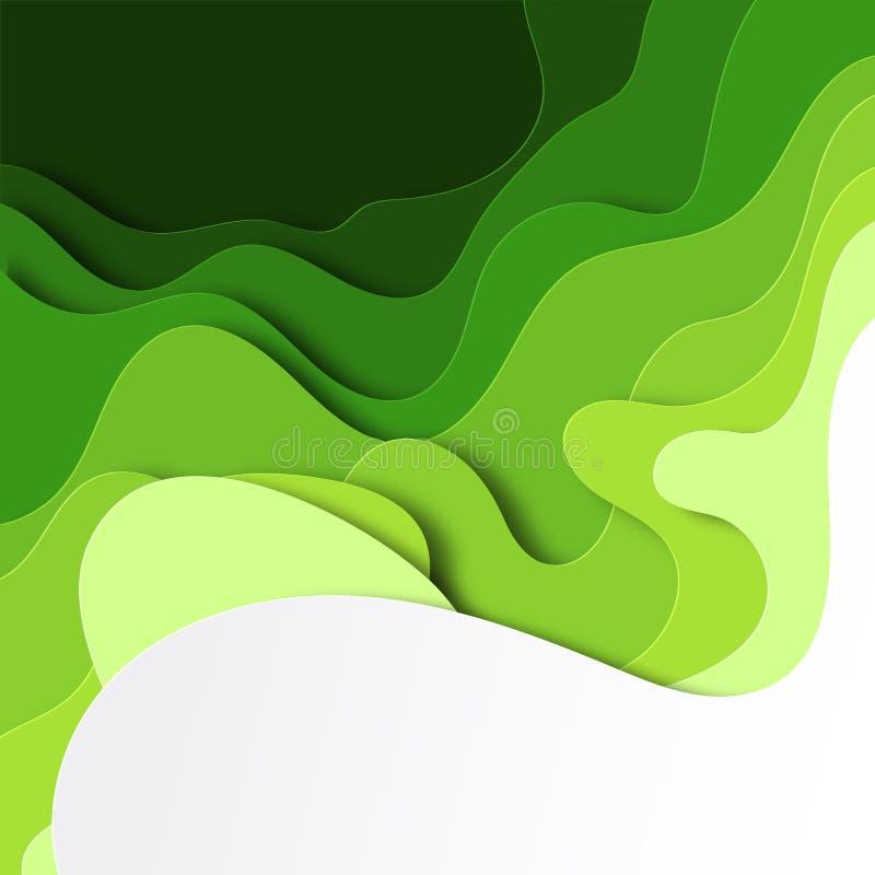 Fondo abstracto con las hojas coloridas en el estilo cortado de papel Dise?o acodado del oto?o para los carteles, invitaciones, n libre illustration