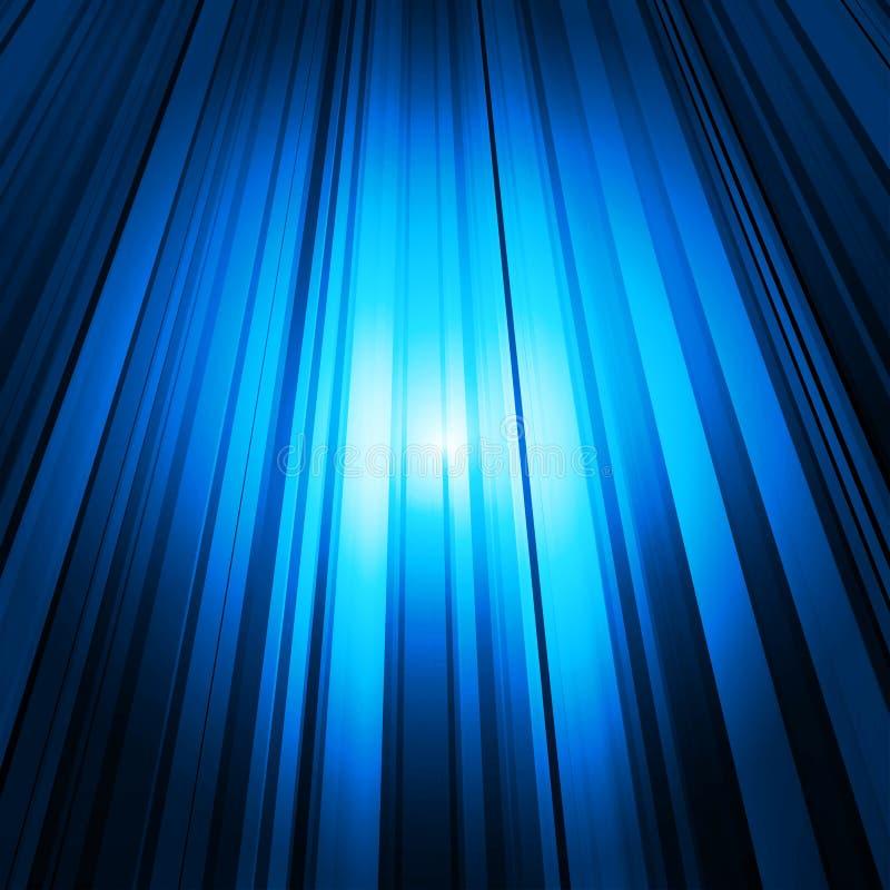 Fondo abstracto con las líneas coloreadas y la luz ilustración del vector