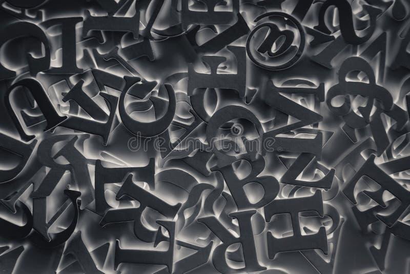 Fondo abstracto con las letras negras foto de archivo libre de regalías