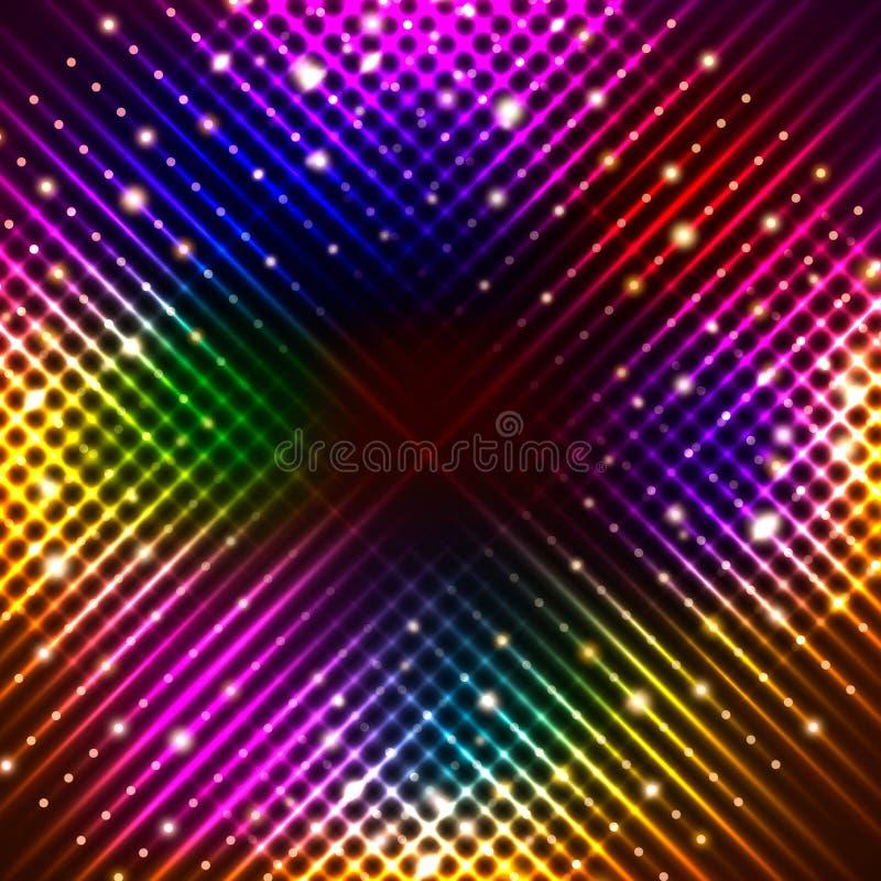 Fondo abstracto con las luces mágicas brillantes libre illustration
