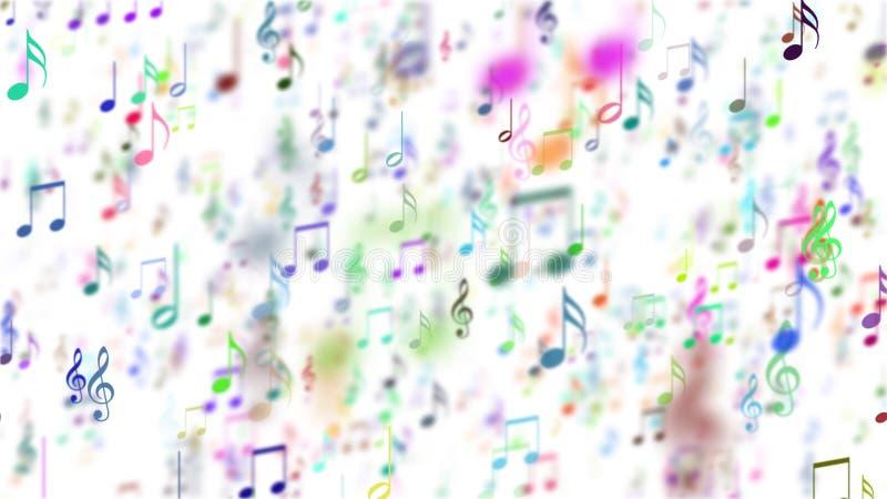 Fondo abstracto con las notas coloridas de la música libre illustration