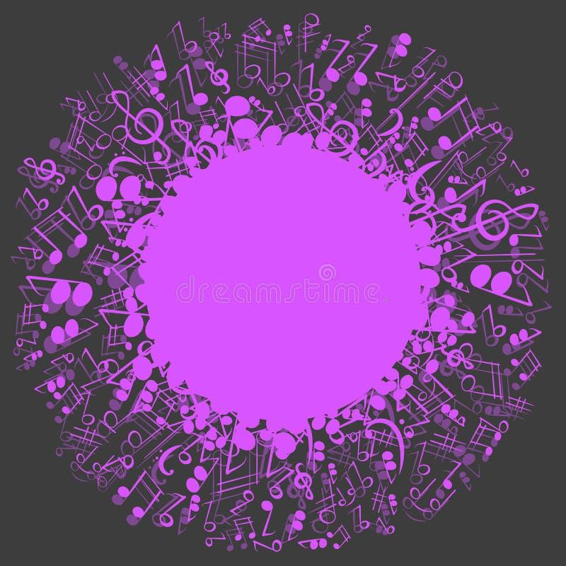 Fondo abstracto con las notas musicales foto de archivo