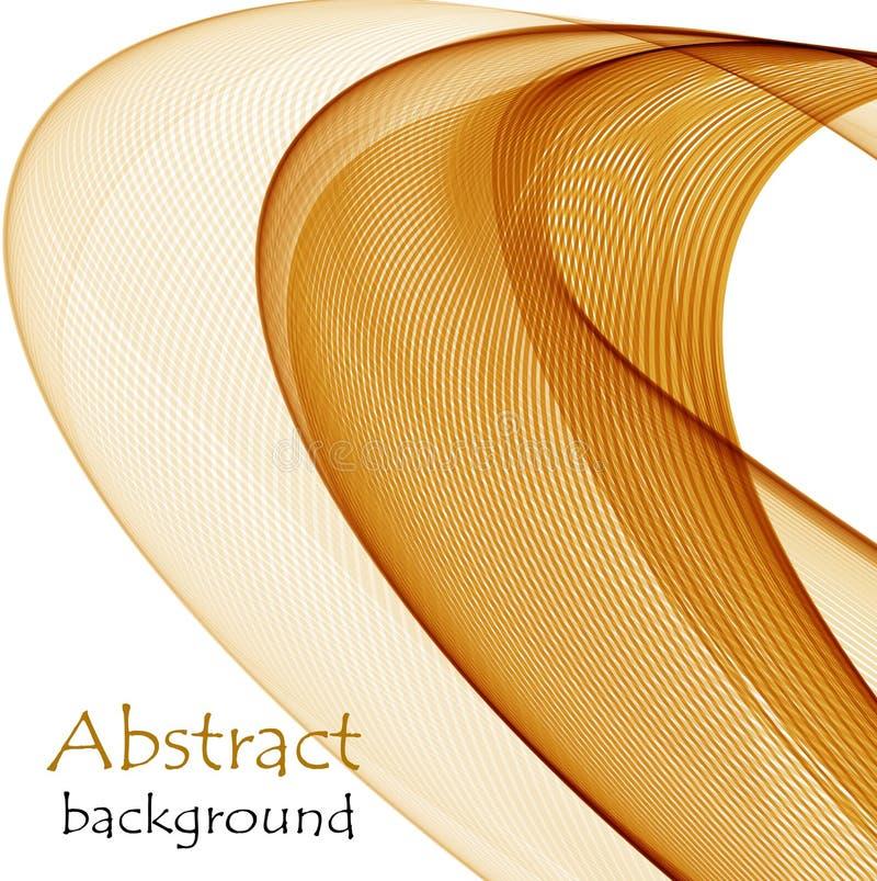 Fondo abstracto con las ondas anaranjadas del material transparente del vuelo libre illustration