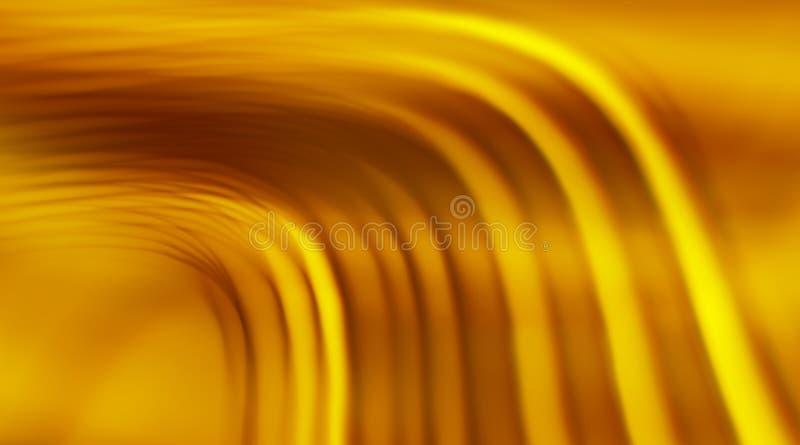 Fondo abstracto con las ondas borrosas del oro libre illustration