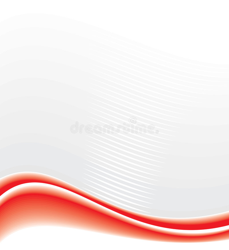 Fondo abstracto con las ondas rojas libre illustration