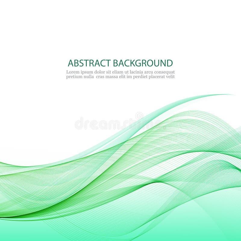 Fondo abstracto con las ondas verdes libre illustration
