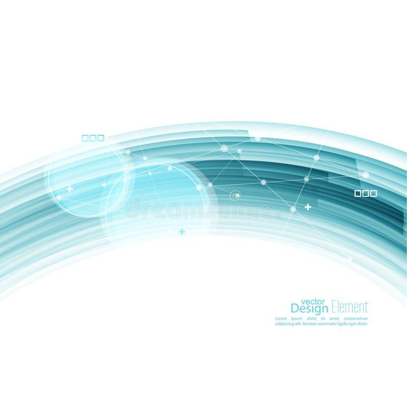 Fondo abstracto con las rayas azules libre illustration