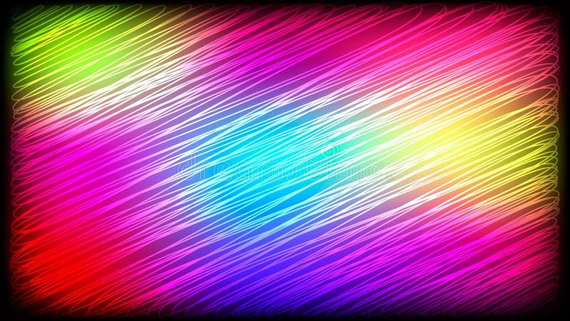 Fondo abstracto con las rayas multicoloras libre illustration