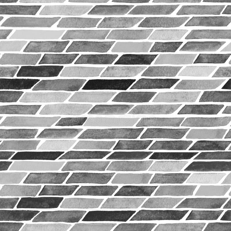 Fondo abstracto con las rayas o los ladrillos pintados a mano de la acuarela ilustración del vector