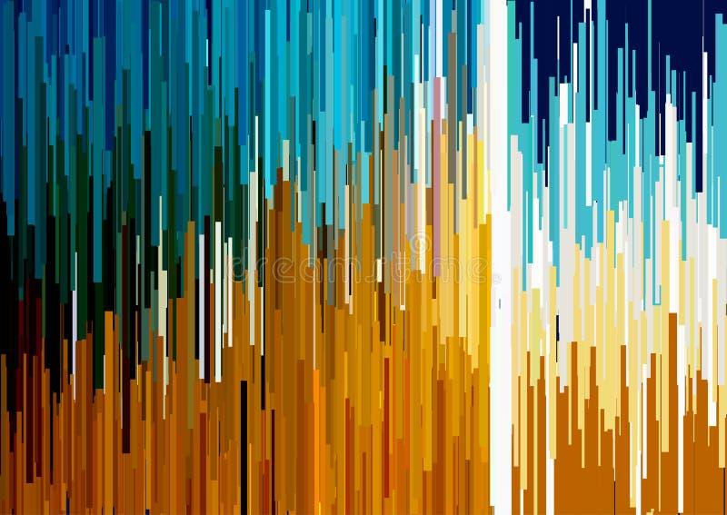 Fondo abstracto con las rayas verticales glitched, líneas de corriente Concepto de estética del error de la señal libre illustration