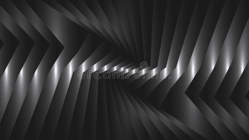 Fondo abstracto con las tiras de metal ilustración del vector