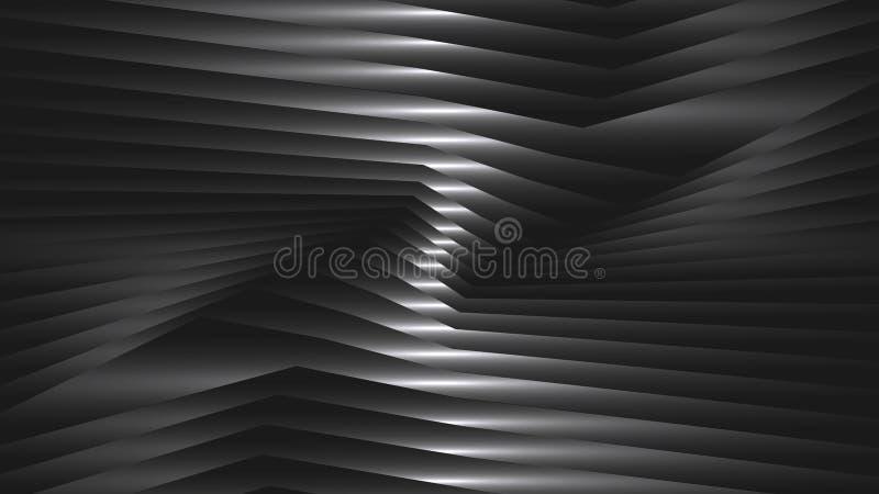 Fondo abstracto con las tiras de metal stock de ilustración