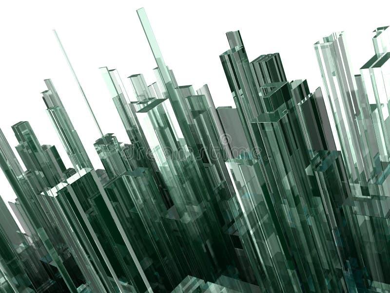 Fondo abstracto con los bloques de cristal ilustración del vector