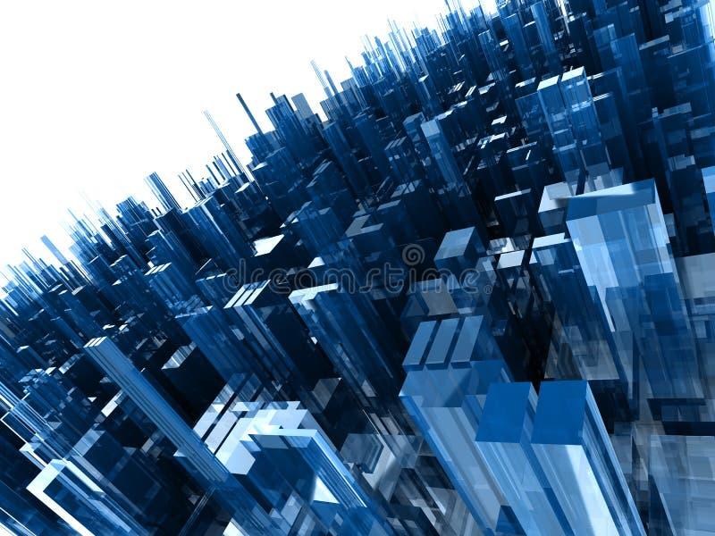 Fondo abstracto con los bloques plásticos azules ilustración del vector