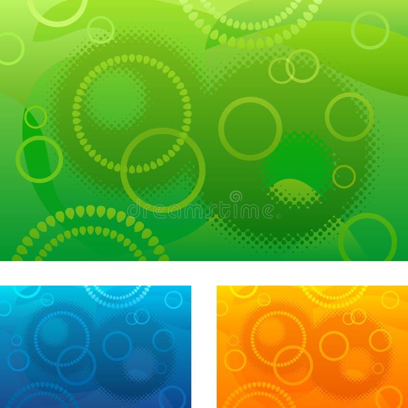 Fondo abstracto con los círculos libre illustration