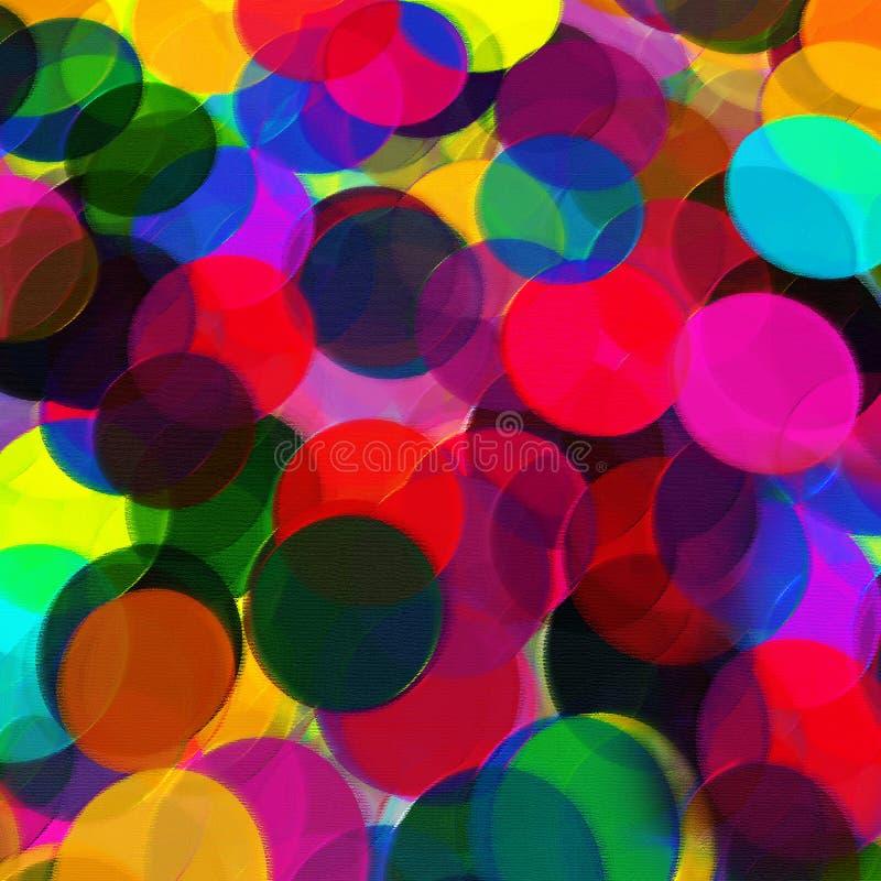 Fondo abstracto con los c?rculos transparentes del arco iris ilustración del vector
