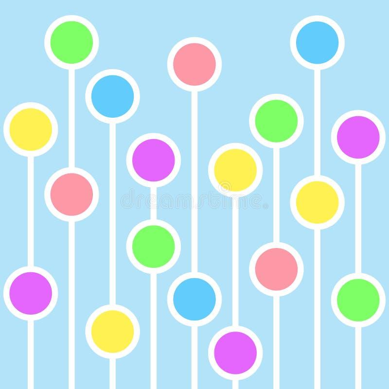 Fondo abstracto con los círculos y las líneas blancas imagenes de archivo