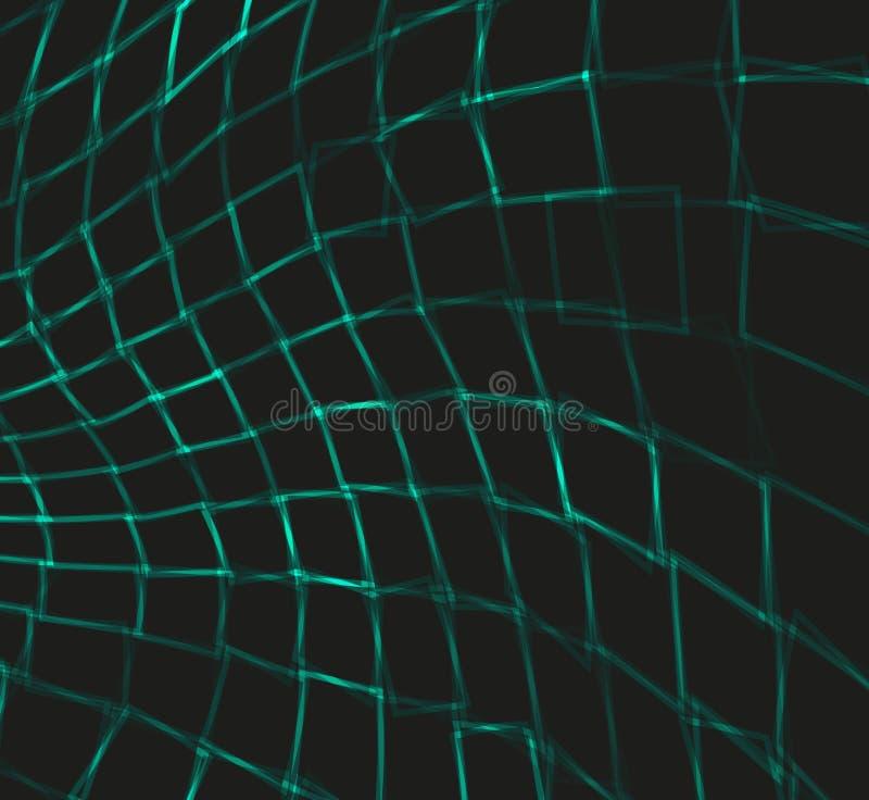 Fondo abstracto con los cuadrados curvados Vector stock de ilustración