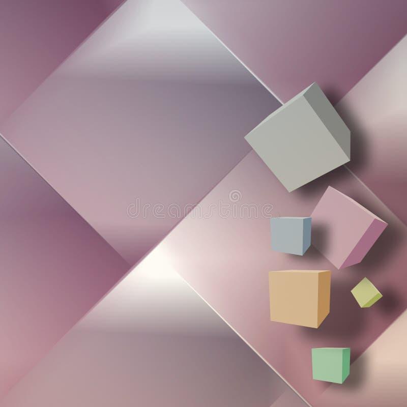 Fondo abstracto con los cubos ilustración del vector