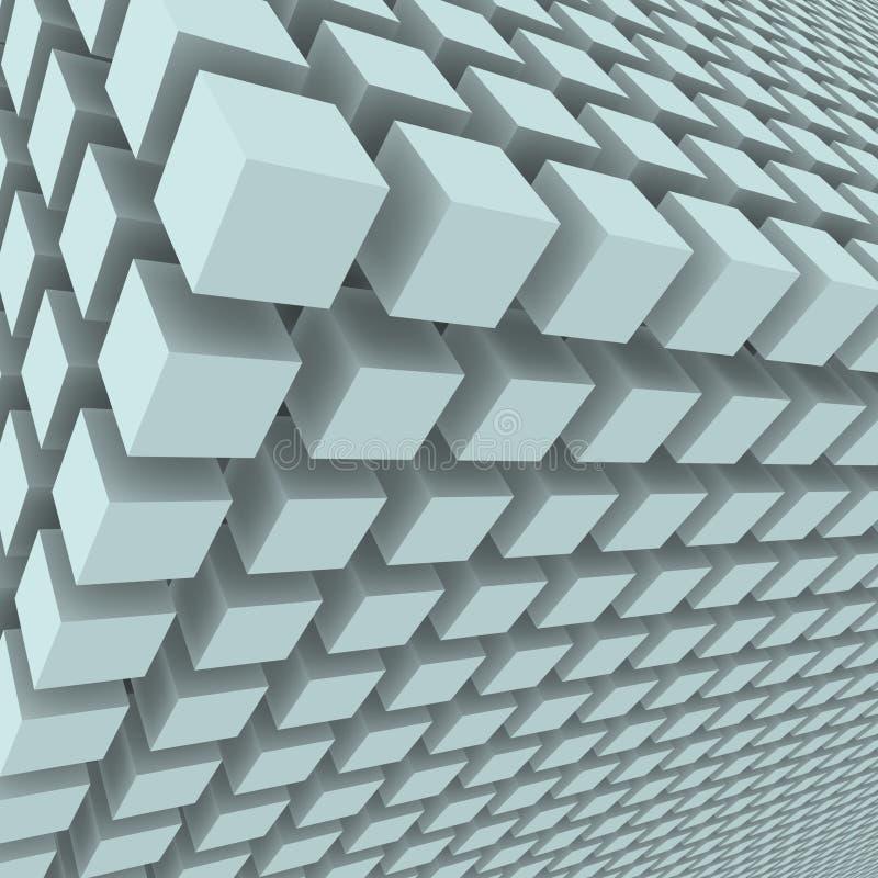 Fondo abstracto con los cubos 3d stock de ilustración