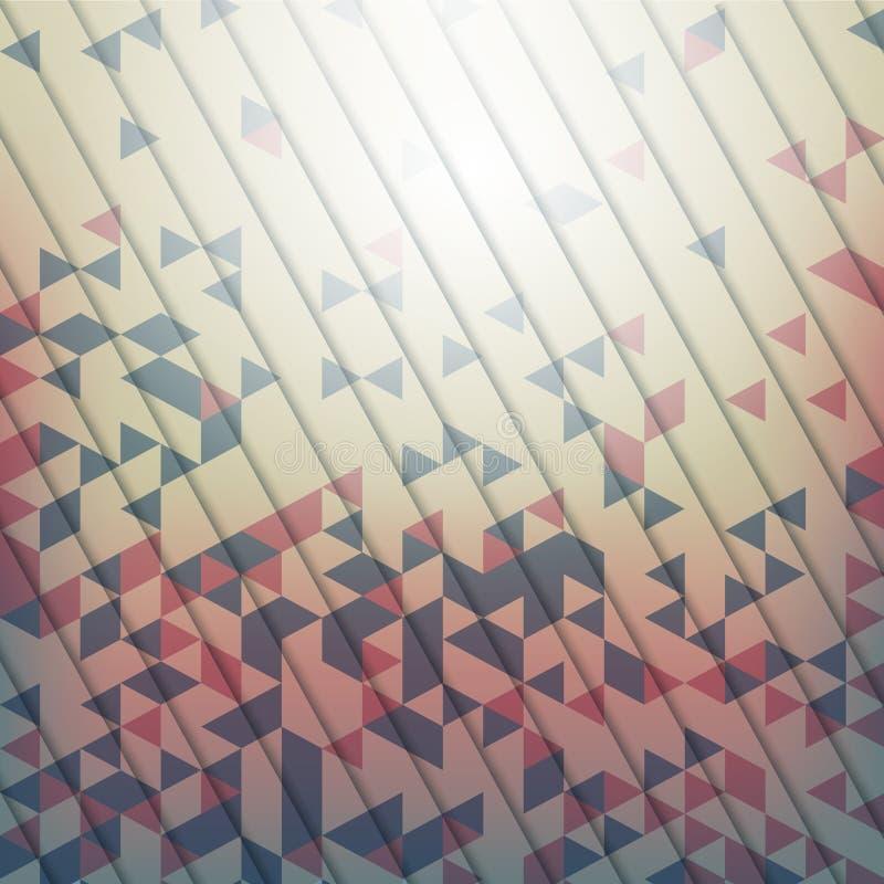 Fondo abstracto con los elementos geométricos del triang libre illustration