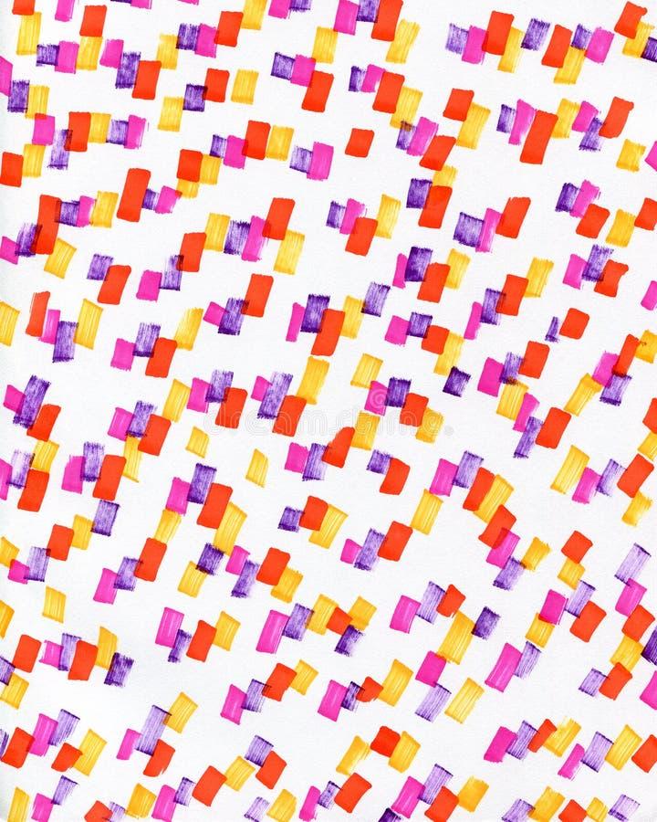Fondo abstracto con los puntos multicolores stock de ilustración