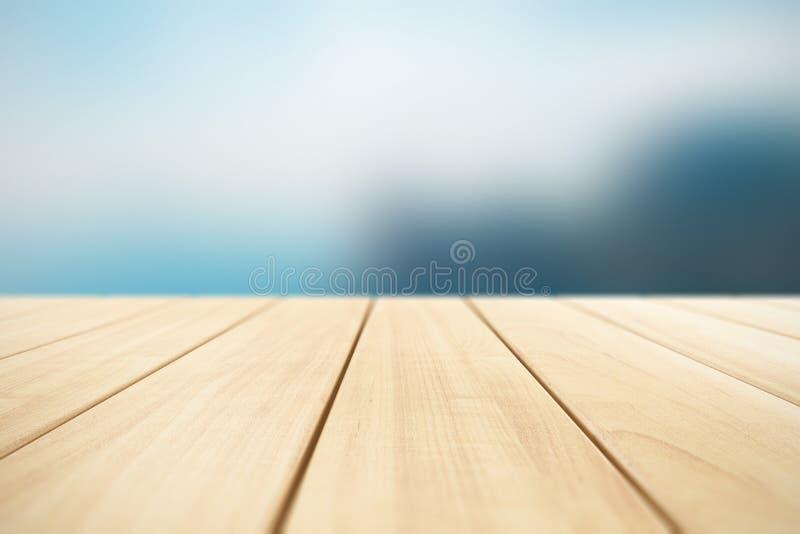 Fondo abstracto con los tablones de madera al aire libre ilustración del vector