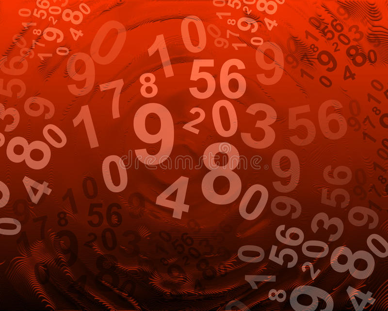 Fondo abstracto con números libre illustration