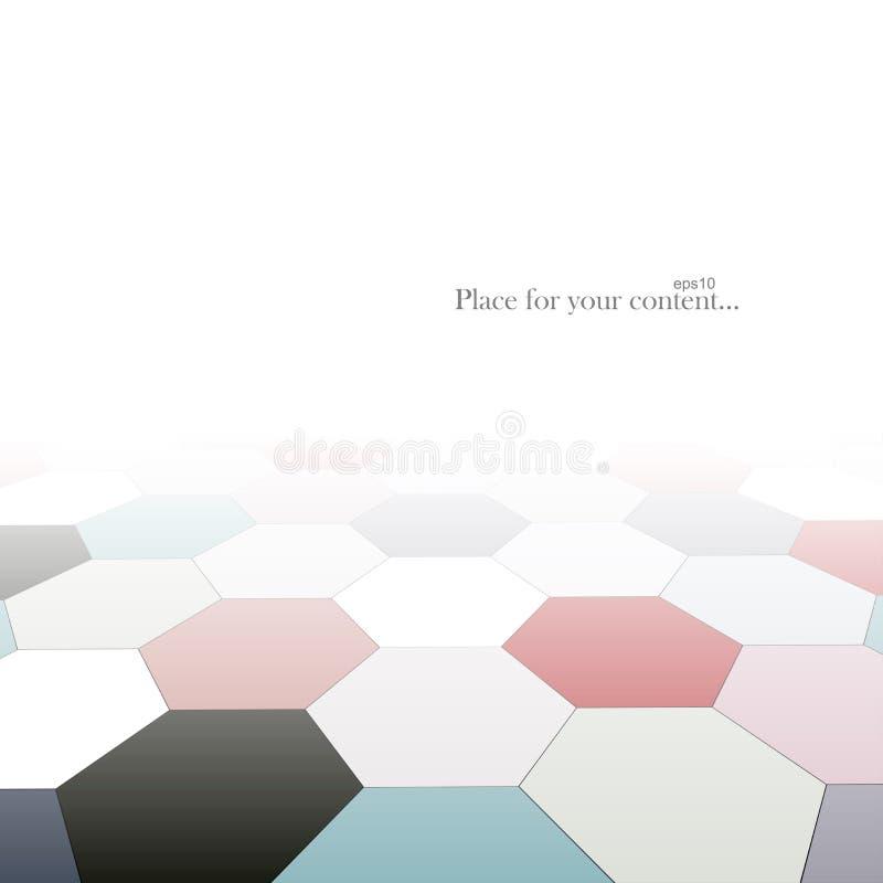 Fondo abstracto con perspectiva Formas geométricas del color - suelo de baldosas Diseño del vector libre illustration
