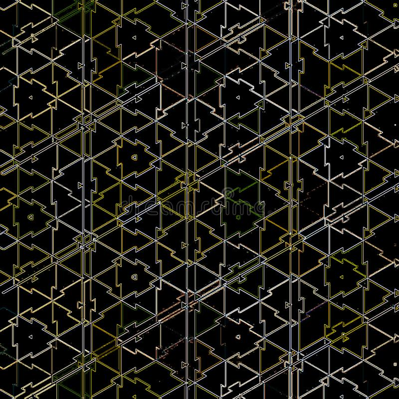 Fondo abstracto con rejilla texturizado por los triángulos coloridos ilustración del vector