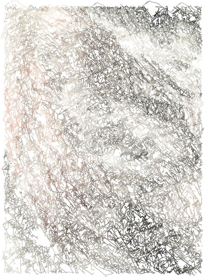 Fondo abstracto con transiciones del color de pálido - rosa a negro y a gris usando elementos decorativos en el estilo de stock de ilustración