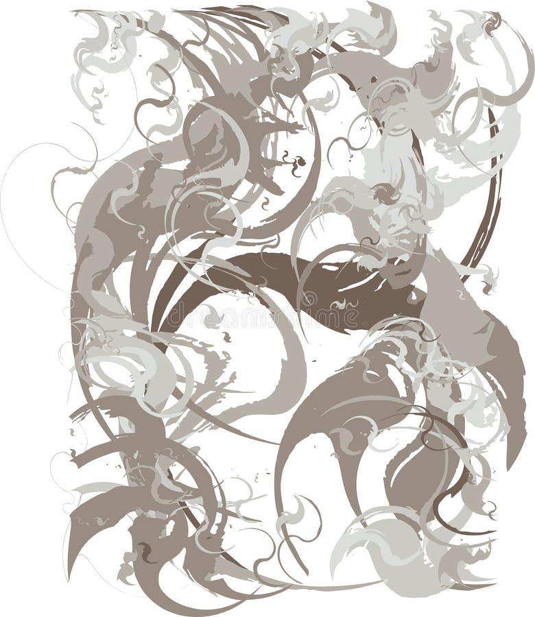 Fondo abstracto con transiciones del color del gris p?lido, cacao al marr?n oscuro usando elementos decorativos en el estilo de l ilustración del vector