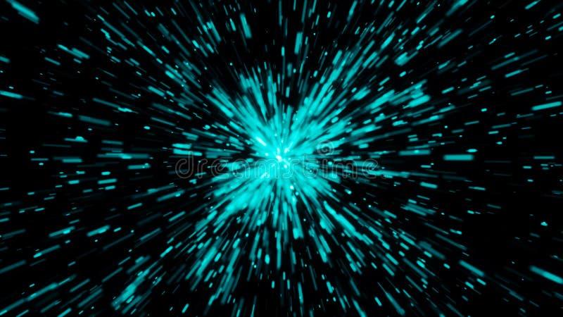 Fondo abstracto con viaje Hyperspace ilustración del vector