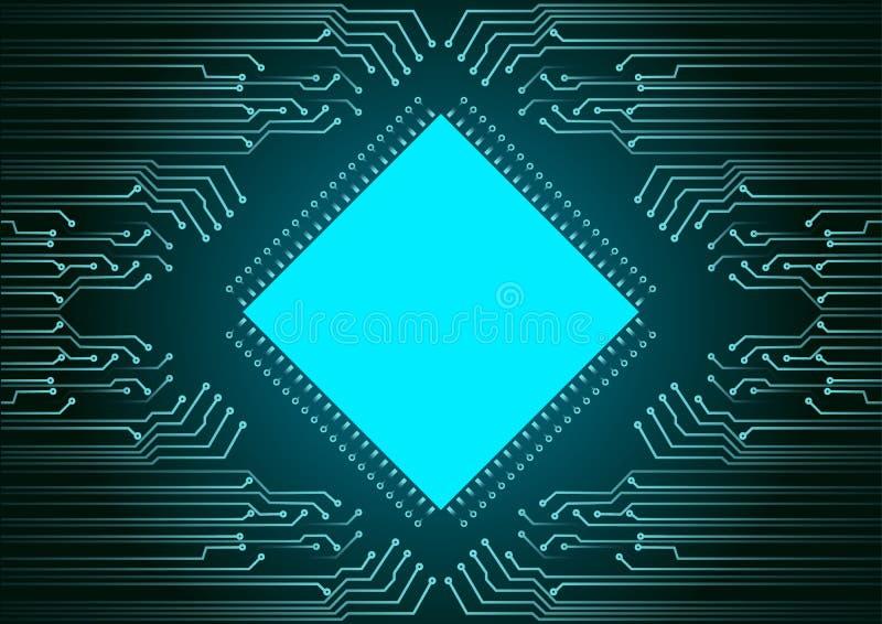 Fondo abstracto; Concepto cibernético de la seguridad de la tecnología stock de ilustración