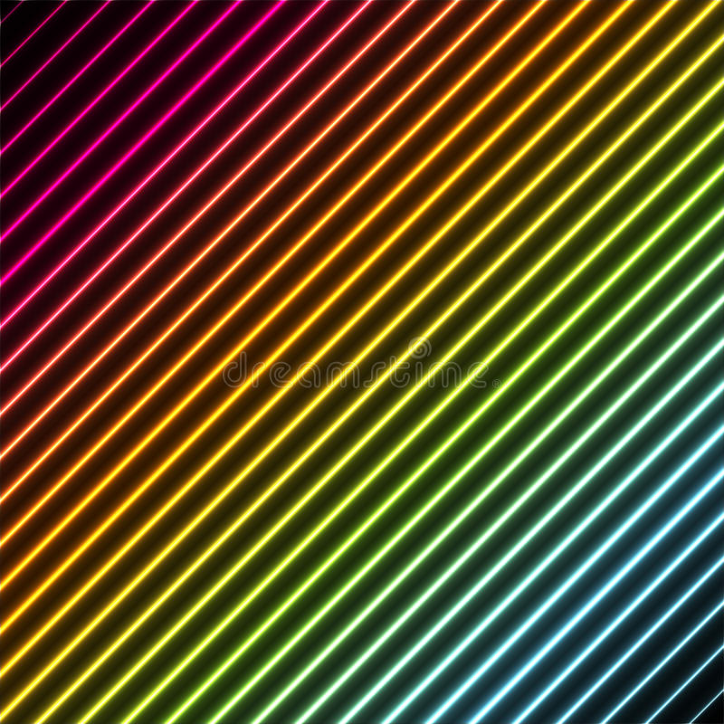 Fondo contemporáneo con colores del neón del arco iris libre illustration