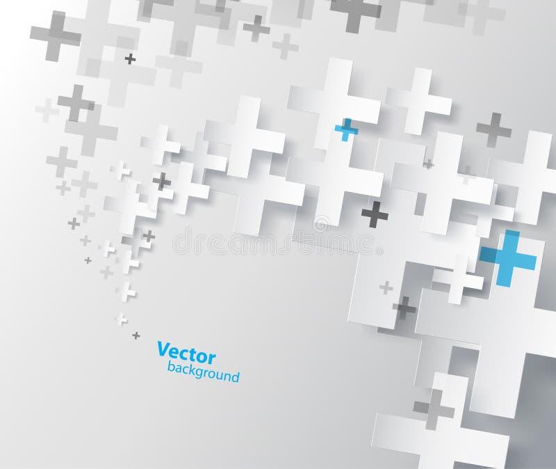 Fondo abstracto creado con el signo más ilustración del vector