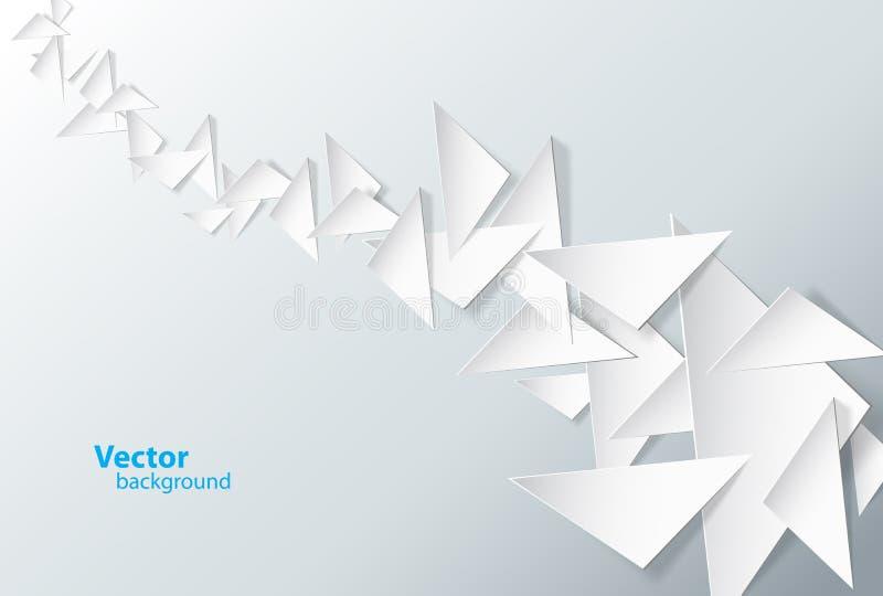 Fondo abstracto creado con los triángulos stock de ilustración