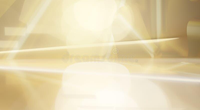 Fondo abstracto creativo de oro brillante 3d-illustration libre illustration