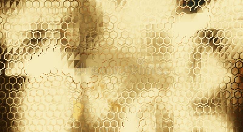 Fondo abstracto creativo de oro 3d-illustration libre illustration