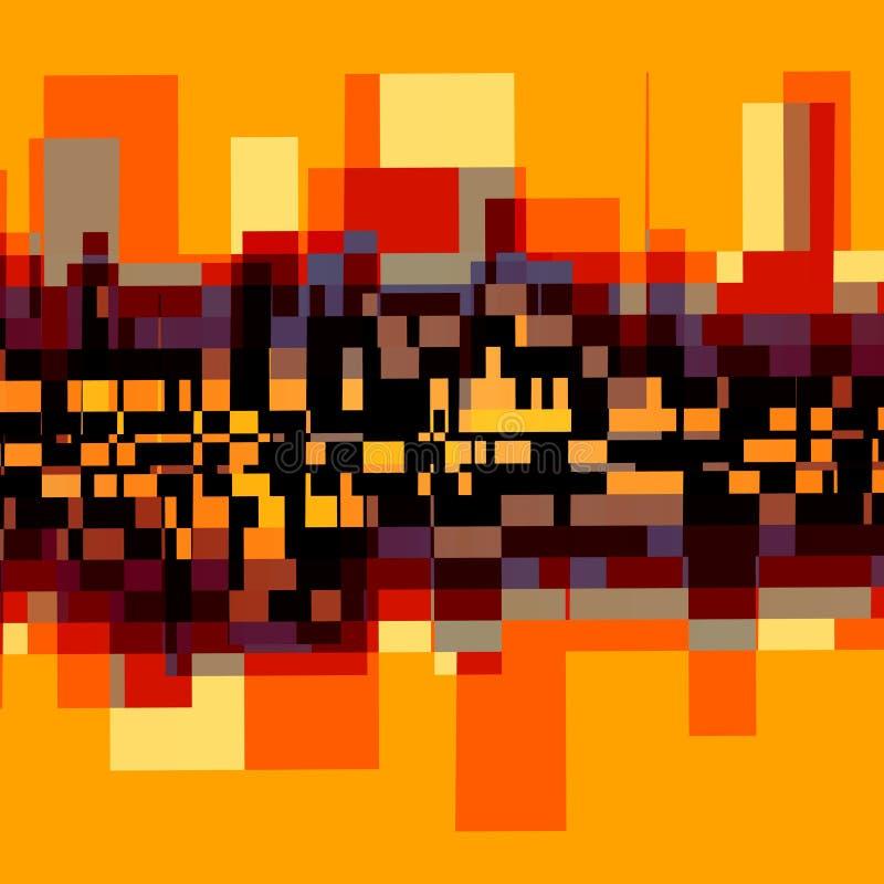 Fondo abstracto creativo - paisaje de la ciudad ilustración del vector