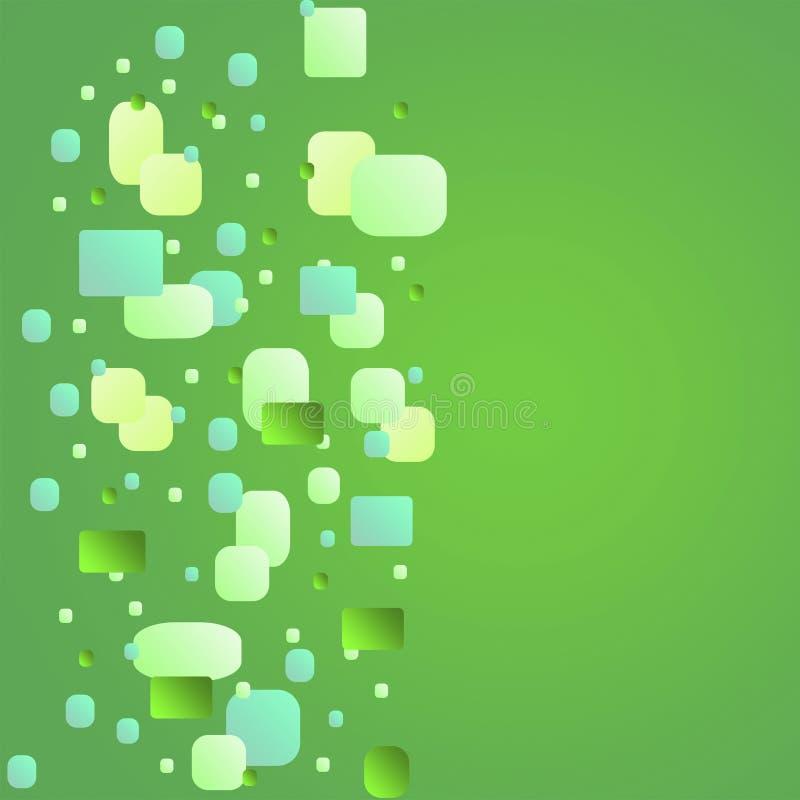 Fondo abstracto cuadrado verde fotos de archivo libres de regalías