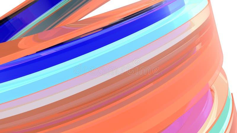 Fondo abstracto Curvy ilustración 3D libre illustration