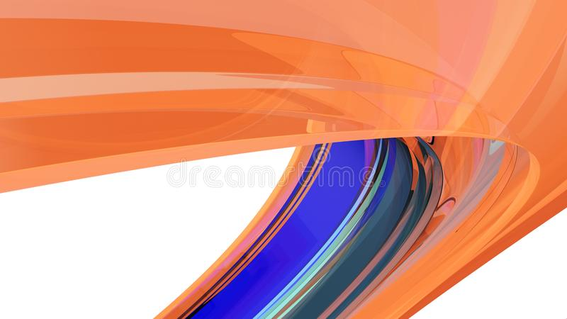 Fondo abstracto Curvy ilustración 3D ilustración del vector