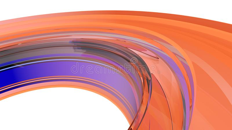 Fondo abstracto Curvy ilustración 3D stock de ilustración