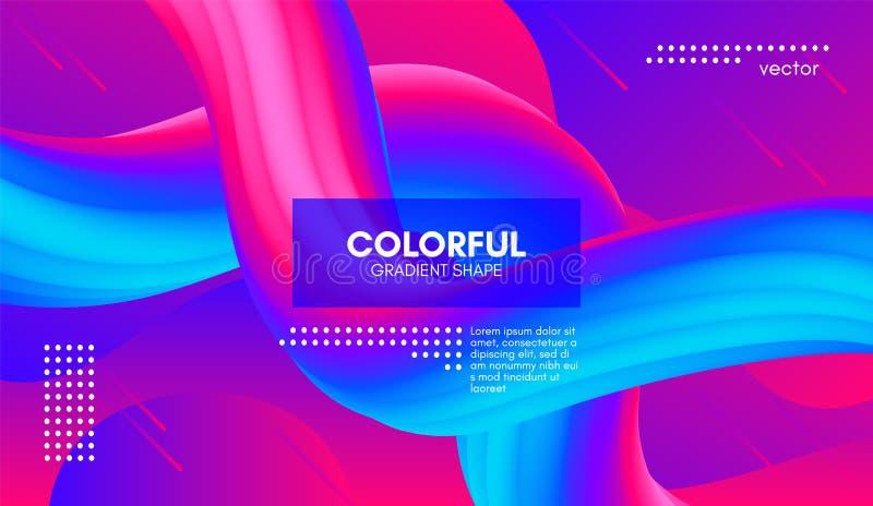 Fondo abstracto 3d Forma colorida del líquido de la onda libre illustration