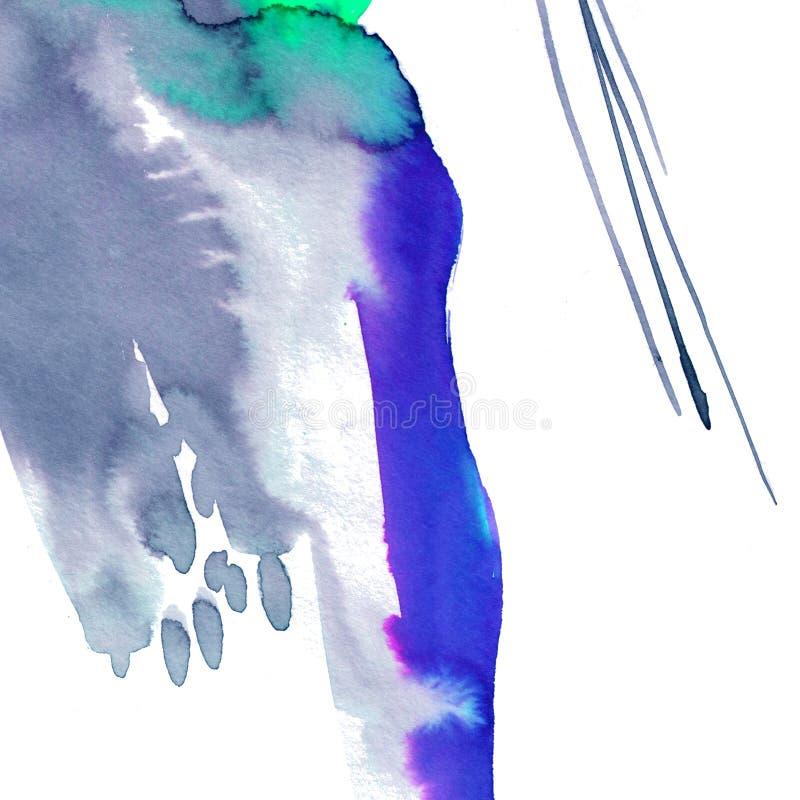 Fondo abstracto de acuarela moderno con un flujo libre de pintura de tinta Mezcla de granulación gris transparente, morado fotos de archivo libres de regalías